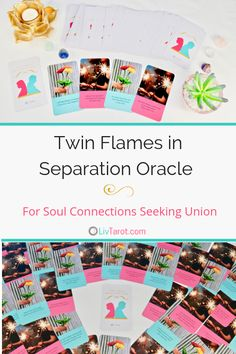 This 65 card oracle deck reveals heartfelt messages from your twin flame or soul connection with whom you have little to no contact. Love Oracle, Love Tarot, Cool Deck, Tarot Learning, Cartomancy, Tarot Readers, Life Partners, Oracle Cards, Tarot Decks