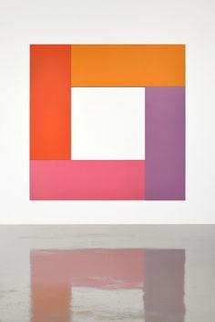 Francis Baudevin - Sans titre (Don Gibson), 2013 acrylic on canvas quadriptych,dim.var