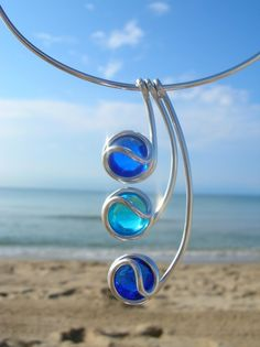 sky and sea wire #gold #Jewelry