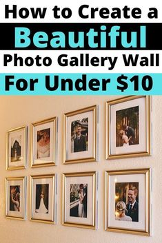 Join me as I create two Dollar Tree photo gallery walls in my home! I spent just 8 dollars on eight frames at the Dollar Tree and 3 dollars on three