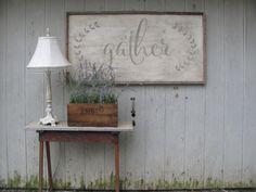 large gather sign by ourhousetoyours on Etsy