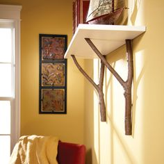 How to Make a Cottage Shelf with Branches - Summary | The Family Handyman