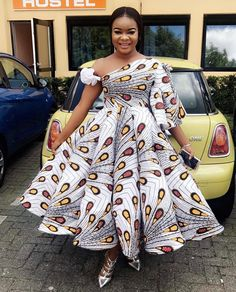 The complete collection of Exotic Ankara Gown Styles for beautiful ladies in Nigeria. These are the ideal ankara gowns African Prom Dresses, African Dresses For Women, African Attire, African Fashion Dresses, African Wear, African Women, Nigerian Fashion, Ankara Fashion, African Style