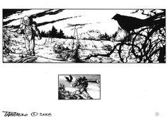 """Black & white illustrations for daily newspaper """"Corriere del Veneto.""""  #stefanotamiazzo #scifi #comics"""