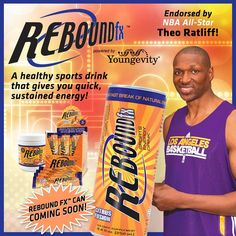 """PIN IT TO WIN IT!"" - A Case of Rebound fx by Youngevity! - Citrus Fusion Sports Energy Drink Endorsed by NBA All-Star The Ratliff. Shipped to you in the newly releasing cans!"