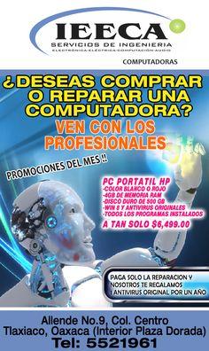 Computadoras, accesorios y mantenimiento en Tlaxiaco.
