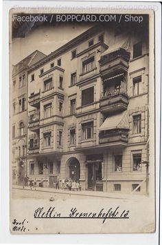 POMMERN , FOTOKARTE STETTIN , KRONENHOFSTRASSE 13 , SZCZECIN , 1914 Poland, Berlin, Photo Wall, Louvre, Building, Wwii, Ebay, Travel, Photos