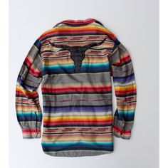 Vintage Serape Mexican Blanket Shirt Sequin Longhorn Patch Flannel... ($70) ❤ liked on Polyvore featuring tops, grey, women's clothing, sequin sleeve top, vintage flannel shirts, grey button down shirt, gray shirt and grey shirt
