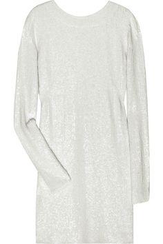 Ashish|Sequined silk-georgette mini dress|NET-A-PORTER.COM