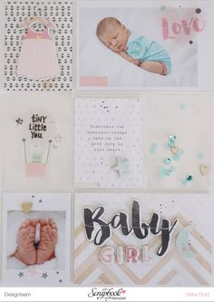Titelseite Best Of Baby Album Lina - Crate Paper *Little You* - von Ulrike Dold Mehr Project Life Scrapbook, Project Life Layouts, Project Life Cards, Baby Scrapbook, Scrapbook Cards, Scrapbooking Layouts, Project Life Karten, Washi, Project Life Baby