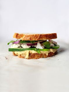 Hummus, Feta, Cucumber and Mint Sandwiches | RealSimple.com