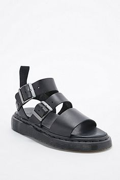 Dr. Martens Gryphon Heavy Strap Sandals in Black