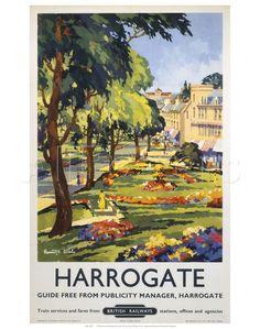 1950/'s British Rail Harrogate Railway Poster A3//A4 Print