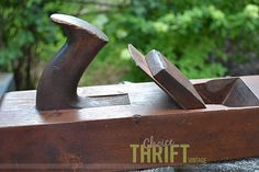 Antique Carved Wooden Block Plane/Planer by ChoiceThriftVintage