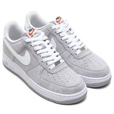 #Nike Air Force 1 - Wolf Grey/White #sneakers