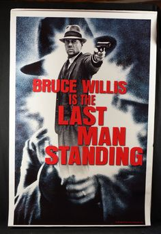 "Movie Poster  ""The Last Man Standing""  Original 1996 Advance Movie Poster - Bruce Willis by MoviePostersAndMore on Etsy"
