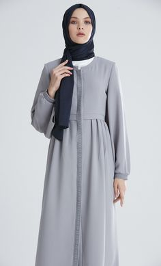 M7403 3 Abaya Fashion, Modest Fashion, Girl Fashion, Fashion Dresses, Muslim Dress, Hijab Dress, Dress Anak, Modele Hijab, Abaya Designs