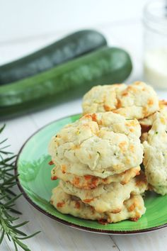 Zucchini Parmesan Buttermilk Biscuits - Biscuits with garden fresh zucchini and loaded with Parmesan cheese. Great recipe for soft biscuits with rosemary