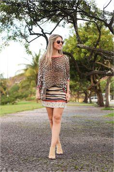 look do dia, produção de moda, mix de estampas, animal print, blog mariana rizzi, animale, street style
