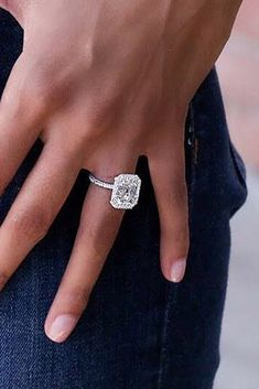 30 The Most Beautiful Gold Engagement Rings ❤️ gold engagement rings diamond solitaire white gold ❤️ See more: http://www.weddingforward.com/gold-engagement-rings/ #weddingforward #wedding #bride #engagementrings #goldengagementrings