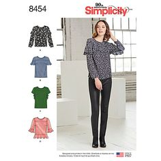 Buy Simplicity Ruffle Tops Pattern, 8454 Online at johnlewis.com