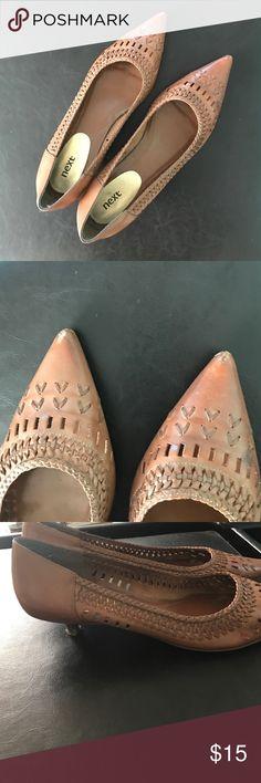 17fd7e5ba81 Leather kitten heels Kitten heels. Perfect for work. They been a little  loved as