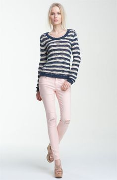 Rag & Bone 'Sevilla' Sweater and skinny jeans.