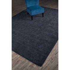 Grand Bazaar Hand Woven 100-percent Wool Pile Celano Rug 8' X 11' - 8' x 11' (Charcoal), Grey, Size 8' x 11'