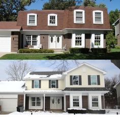 Mansard roof Before & After! This is so happening... I hate our mansard roof