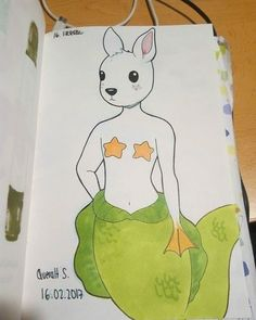 today i have drawn something unreal, a mermaid-bunny-duck (? #draw #drawing #art #artist #myart #sketch #sketchbook #copic #copicmarker #copicart #color #Artnestoltes #artnestoltesllotja #16 #unreal #traditionalart