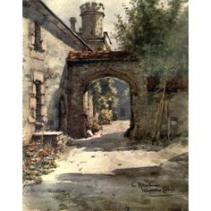 Posterazzi Winchester 1910 Brewhouse Winchester College Canvas Art - Wilfrid Ball (24 x 36)