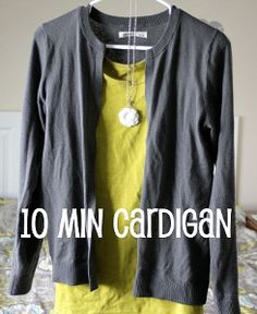 10 Minute Sweater to Cardigan Transformation | AllFreeSewing.com