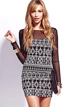 Tribal Print Bodycon Dress | FOREVER 21 - 2000050534