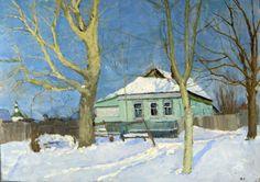 Cozyhuarique Old Poplar Trees -   Nikolai Sergeyev  1970   Russian 1908-1989
