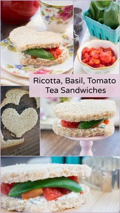 Ricotta, Basil, Tomato Tea Sandwiches - perfect for brunch or a tea ...