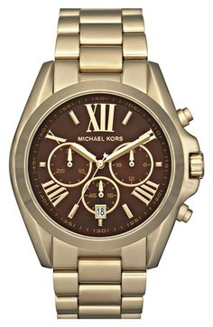 Michael Kors and I connect through watches.  My gold one needs to be replaced, specifically, replaced with this shiny new version...
