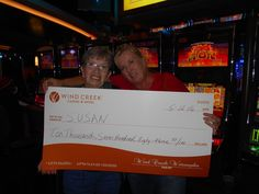 Congrats to Ms. Susan for finding her #winningmoment at #WindCreekWetumpka playing on So Hot!