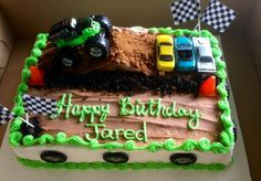 How to make a monster truck cake birthday ideas Monster Jam Cake, Monster Truck Birthday Cake, 3rd Birthday Cakes, Birthday Fun, Birthday Ideas, Monster Trucks, Monster Truck Cakes, Monster Truck Party, Fete Vincent