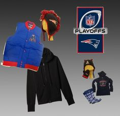 """""""Bundle up for this Sunday's game! @ROSTERSTORES"""" by rosterstores on Polyvore"""