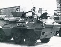 SKOT armored personnel carrier of the Polish People's Army. Polish People, Warsaw Pact, Armoured Personnel Carrier, Armored Vehicles, Cold War, Military History, Military Vehicles, Tanks, Battle