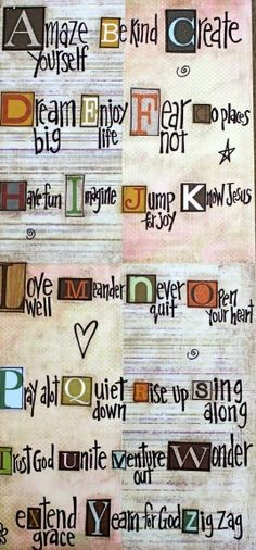 ABC's of life This would be cute on a chalkboard where the letters were glued on, but there was space to change up the words! Great Quotes, Me Quotes, Inspirational Quotes, Quotes To Live By, Motivational, Quotable Quotes, Famous Quotes, Bibel Journal, Be Kind To Yourself