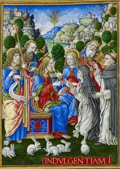 Sforza Hours - caption: 'The Mystic Marriage of St. Catherine of Siena' | by The British Library