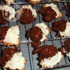 Kokosmakronen met witte chocolade