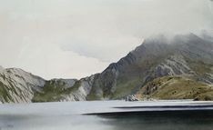 Llyn Hywel, an original watercolour painting by Rob Piercy