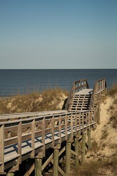 This is the board walk to our honey spot on Jekyll Island ~ we saw no one on the beach in the middle of summer!