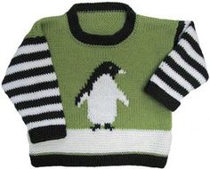 Penguin Pullover pattern by Gail Pfeifle, Roo Designs