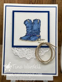 Country Livin' The Cowgirl Way ⋆ Tina Wardell~Stampin' Up! Special Birthday Cards, Cool Birthday Cards, Handmade Birthday Cards, Happy Birthday, Birthday Images, Birthday Quotes, Birthday Greetings, Birthday Wishes, Kids Cards