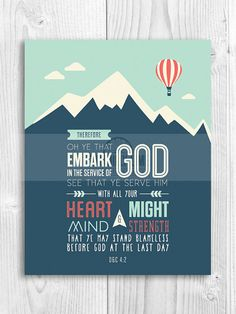 Embark on an adventure with these Young Women 2015 Theme prints. Embark in the Service of God. LDS printables, 2015 Mutual theme, new beginnings, girl's camp