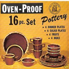 HULL-POTTERY-CROOKSVILLE-OH-BROWN-DRIP-ORIG-BOX-LABEL