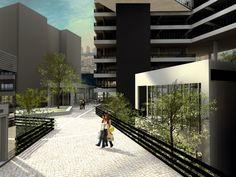 Uso misto Estação Vila Prudente - O projeto articula espaços e passagens interligados entre si, propiciando lugares de encontro e convívio. ______________________________   Mixed use Vila Prudente Station   #mixeduse #architecture
